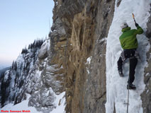 Ice climbing on Bourgeau Right