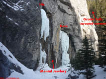 Grotto Canyon ice climbs