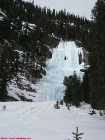 Louise Falls ice climb in Lake Louise, Alberta