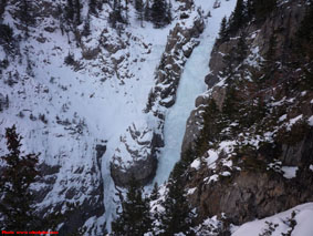 Rogan's Gully & Cascade Falls near Banff, AB.