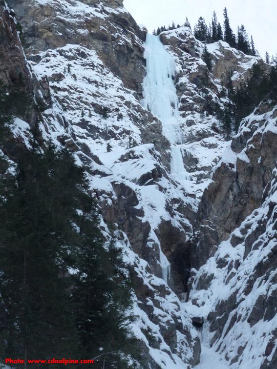 Super Bock ice climb, entire route.