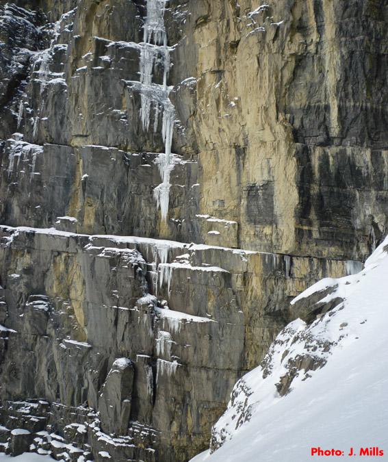Early season ice on Mt. Murchison