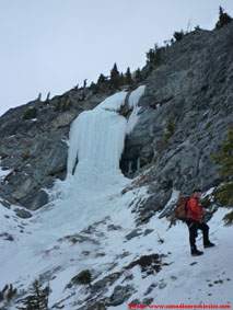 A Bridge Too Far ice climb in Kananaskis.