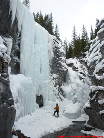 Tasting Fear Ice Climb in Kananaskis