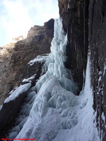 Whiteman Falls ice climb.