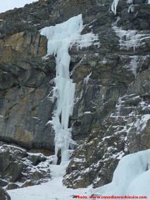 But My Daddy's a Psycho ice climb beside Murchison Falls.
