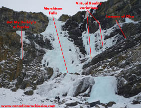 Murchison Falls area ice climbs.