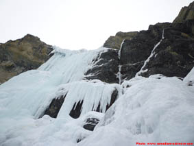 Murchison Falls ice climb, upper pitches