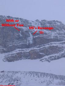 Uli's Revenge & U2 ice climbs