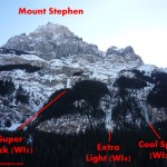 Various routes on Mt. Stephen